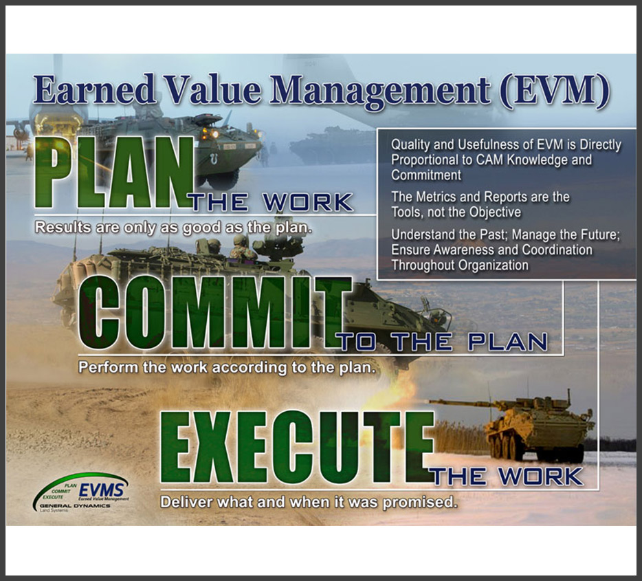 EVMS Poster Design for GDLS/ General Dynamics Land Systems